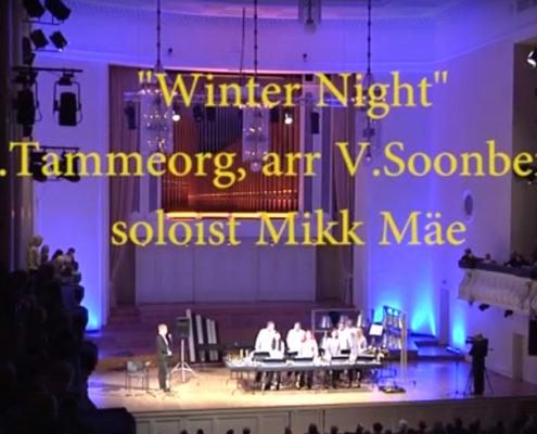 """Tammeorg """"Talveöö"""", solist Mikk Mäe"""